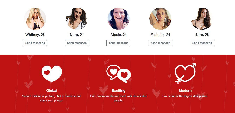 Большое количество женщин на сайте